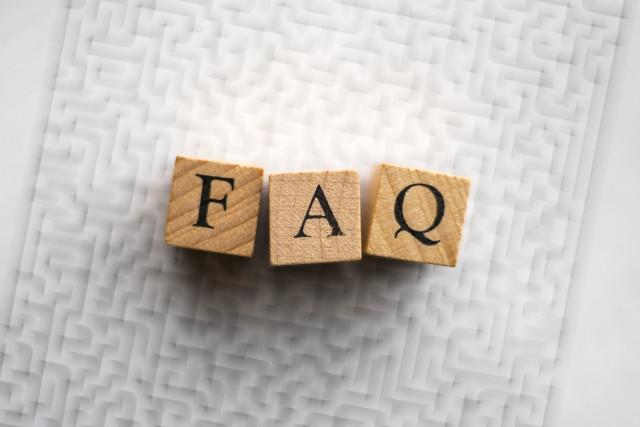 FAQと書かれた積み木